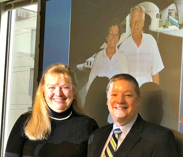 Sewickley Public Library Director Carolyn Toth and Board President Larry Castner at the Pittsburgh Foundation