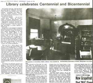 library centennial article from sewickley herald