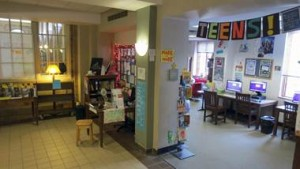 teen area at sewickley public library