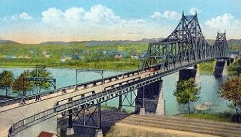 sewickley bridge vintage postcard