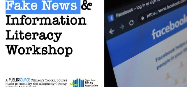 Upcoming: Fake News & Information Literacy Workshop