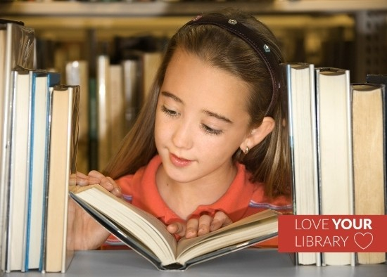 Love Your Library Patron in Book Stacks